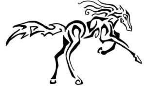 Horse Tribal Tattoo by cairnthecrow