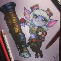 Tristana fanart by Luunally