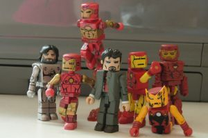 Iron Men Family Portrait by MarioSIX