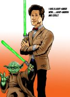 the doctor and yoda by MonsterIslandStudios
