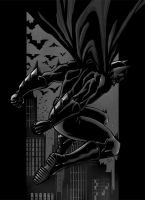 Return of the Dark Knight b+w by ErikVonLehmann