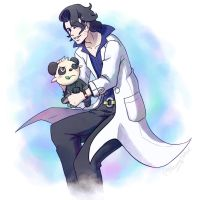 Professor Sycamore and Pancham by NarumyNatsue