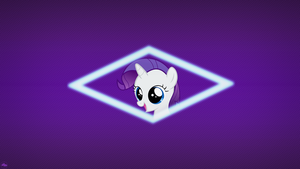 Filly Rarity ~ Simplistic Wallpaper by 2bitmarksman