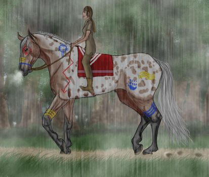 A Rainy Morning Ride #054-A by SilverBrooke-Stables
