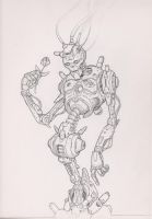 robot sketch by hodjii