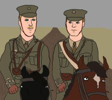 Major Stewart and Captain Nicholls by TheSimpsonsFanGirl