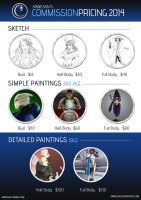 Commission Price Guide 2014 by Armesan
