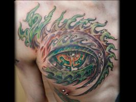 Tool Eye Chest Tattoo done by Sean Ambrose by seanspoison