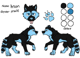Arson ref sheet by Blackrose1716