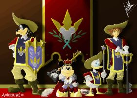 Mickey and the 3 musketeers by Avielsusej