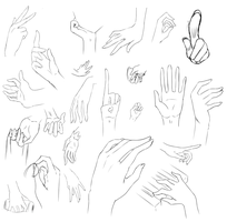 Some Hand Sketch Refs by YamiAsuka