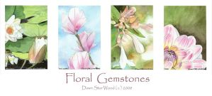 Floral Gemstones series by DawnstarW