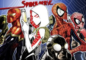 Spider-Verse group 1 by lroyburch