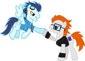 Quicksilver and Soarin by ShadyHorseman
