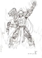Argent Death Knight WIP by theherozion