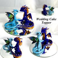 Custom Wedding Cake Topper by LittleCLUUs