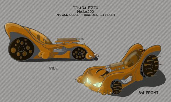 Mad Catz Car Design | Side and 3/4 by kamink
