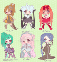 INSTRUMENTAL ADOPTABLES by Lolisoup