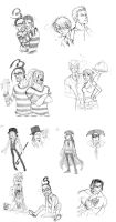 One Piece Sketch Dump 2 by MoonNeko