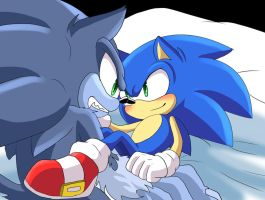 Sonic and Werehog Sonic by AngelofHapiness