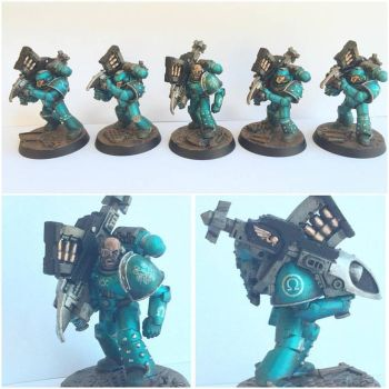 Pre-Heresy Alpha Legion Missile Launcher Squad by ak1508