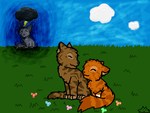 Brambleclaw and Squirrelflight by Speckledpelt3