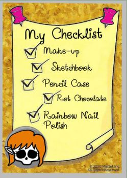 Monster High - Darcy's Creepover Checklist by JunoRamser