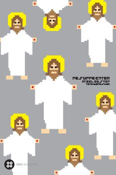 Pixel Easter Jesus - Resurrection by totoproduction