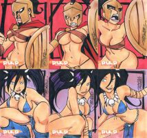Pulp Girls sketch card set 2 by KidNotorious