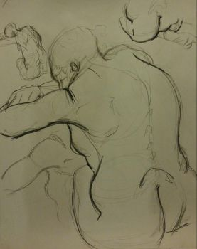 Gesture Drawing 1: 10 min by Diouveruh