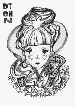 Alice in Wonderland Series BW 2 by dtchn