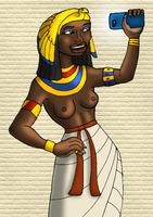 Queen Nefertari Takes a Selfie by DaBrandonSphere