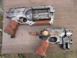 My steampunk guns by Gazghull
