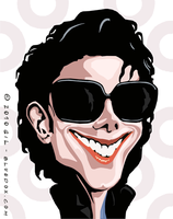 Michael Jackson Caricature by m26gil
