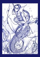 Mermaid for a friend by evui