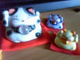 Lucky Cats by Zhonaluz
