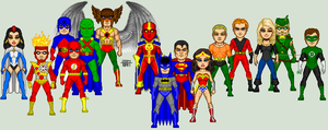 Justice League of America Circa 1982 by EverydayBattman