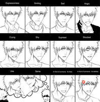 Ichigo Expressions Chart by DivineImmortality