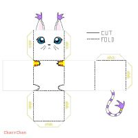 Gatomon Papercraft by CharrChan