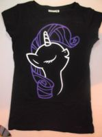 Rarity Handpainted t-shirt by duh-veed