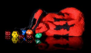 Cat dice bag by foxymitts