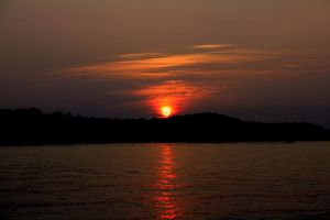 Sunset On Lake Anna by Deliciaa