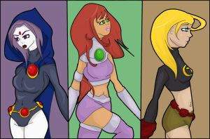 Teen Titan Girlies. by CrimsonCape