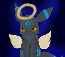 Angel Umbreon (redrawn) by Luciana-vee