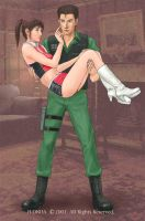 Chris and Claire Redfield by H-Onda