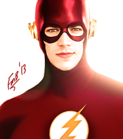 The Flash:Grant Gustin by kyomusha