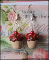 Chocolate cupcake earrings REVISITED by citruscouture