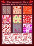 Valentine's Day  PATTERNS Pack 1 by Tetelle-passion