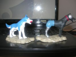 My Two New Ginga Figure (Blue, Sniper) by Kihomi-doglover