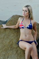 Louise C - Aussie bikini on rocks 1 by wildplaces